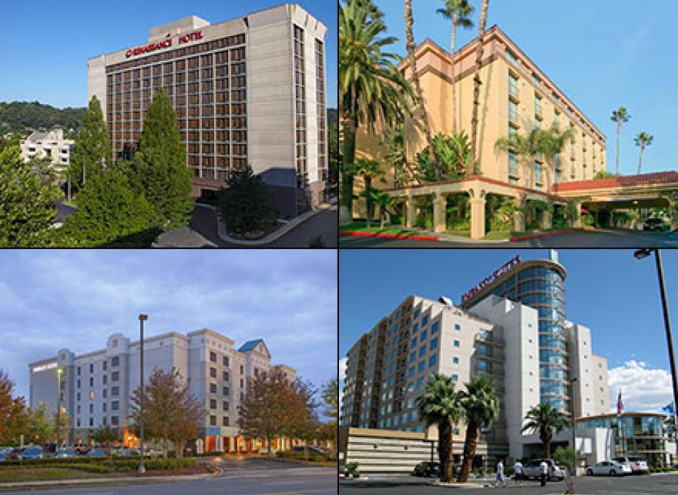 Embassy Suites Alpharetta, Embassy Suites Las Vegas, Embassy Suites Arcadia, Renaissance Asheville